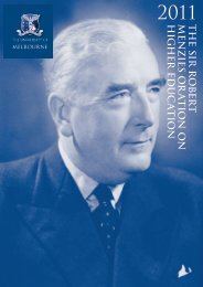 2011 Sir Robert Menzies Oration on Higher Education