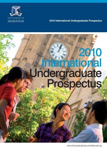 2010 International Undergraduate Prospectus nts. u.au