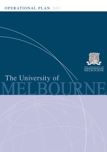 Operational plan 2001, University of Melbourne