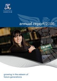 annual report/2006 - University of Melbourne
