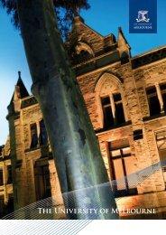 Corporate Profile Brochure 2010 - University of Melbourne