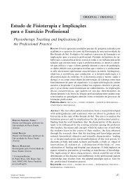 Estudo de Fisioterapia e Implicações para o Exercício ... - Unimep