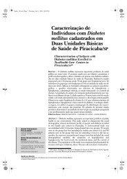 Caracterização de Indivíduos com Diabetes mellitus ... - Unimep