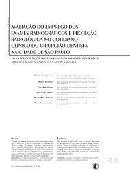 avaliação do emprego dos exames radiográficos e ... - Unimep