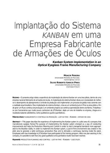 Implantação do Sistema Empresa Fabricante de ... - Unimep