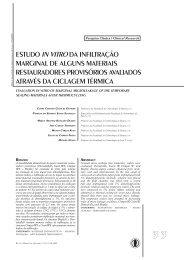 Estudo in vitro da Infiltração Marginal de Alguns - Unimep