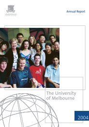 University of Melbourne annual report 2004