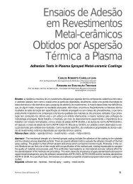 Ensaios de Adesão em Revestimentos Metal-cerâmicos ... - Unimep