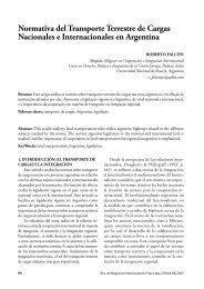 Normativa del Transporte Terrestre de Cargas Nacionales e - Unimep