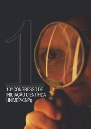 anais do 10 congresso de iniciação científica - Unimep