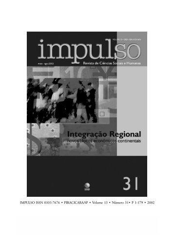 IMPULSO ISSN 0103-7676 • PIRACICABA/SP • Volume 13 - Unimep