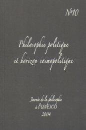 Philosophie politique et horizon cosmopolitique - Université de ...