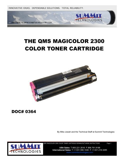 the qms magicolor 2300 color toner cartridge - Uninet Imaging