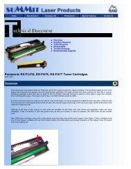Panasonic KX-FL510, KX-FA76, KX-FA77 Toner ... - Uninet Imaging