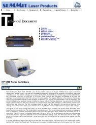 Summit Laser Products - HP-1300 Toner Cartridges - Uninet Imaging