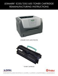 LEXMARK® E250/350/450 TONER CARTRIDGE ... - Uninet Imaging