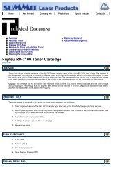 Summit Laser Products - Fujitsu RX-7100 Toner ... - Uninet Imaging