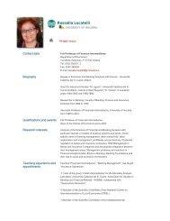 Rossella Locatelli - The University of Insubria
