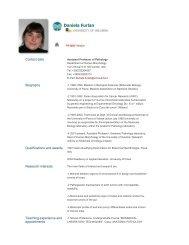 Daniela Furlan - The University of Insubria
