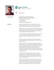 Alberto Vianelli - The University of Insubria