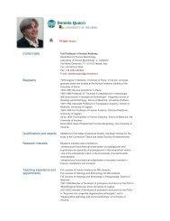 Daniela Quacci - The University of Insubria