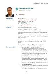 Gianluca Tettamanti - The University of Insubria