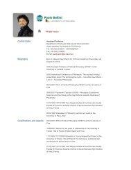 Paolo Bellini - The University of Insubria