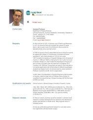 Luigi Boni - The University of Insubria