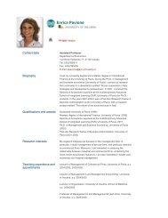 Enrica Pavione - The University of Insubria
