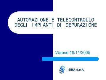 telecontrollo - Università degli Studi dell'Insubria