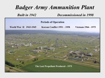 Badger Army Ammunition Plant - Concrete ... - Wisconsin Union