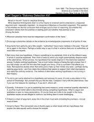 """Carl Sagan's """"Baloney Detection Kit"""""""