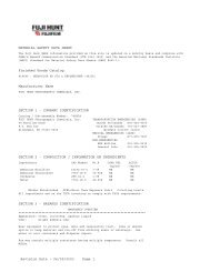 Revision Date - 06/09/2003 Page 1 MATERIAL SAFETY DATA ...