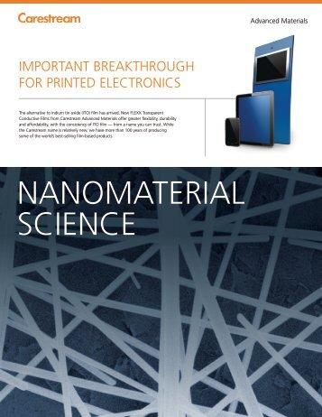 nanomaTEriaL sCiEnCE - Carestream Health