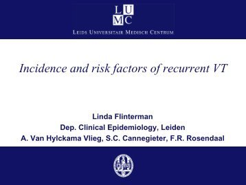 Incidence and risk factors of recurrent VT