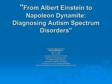 """From Albert Einstein to Napoleon Dynamite: Diagnosing Autism ..."