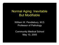 Normal Aging: Inevitable But Modifiable