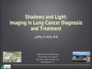 Diagnosis of lung cancer - University of Vermont