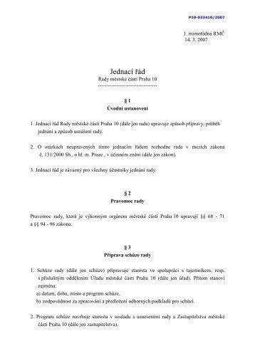 Jednací řád - Praha 10