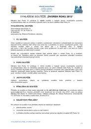 Pravidla soutěže Dvorek roku 2012 - Praha 10