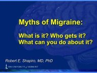 What is Migraine and How Is It Treated? - University of Vermont