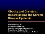Diabetes - College of Medicine - University of Vermont