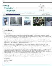 Family Medicine Reporter Winter 06 - College of Medicine ...