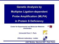 Genetic Analysis by Multiplex Ligation-dependent Probe ...