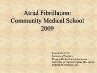 Atrial Fibrillation - College of Medicine - University of Vermont