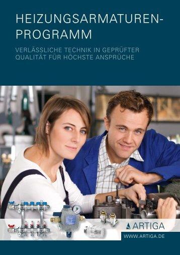 ARTIGA Heizungsarmaturen-Programm - Unionhaustechnik