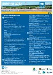 Bedingungen, Haus- und Platzordnung - UnionLido