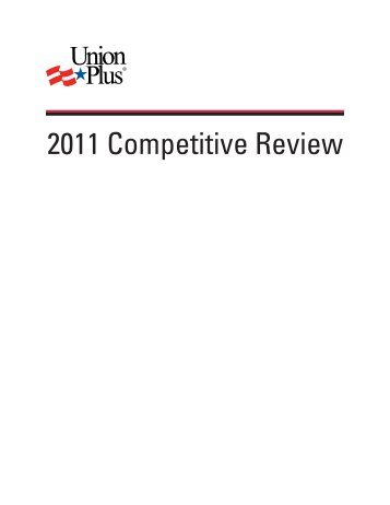 2011 Competitive Review - Union Plus