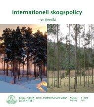 Internationell skogspolicy – en översikt - SIFI