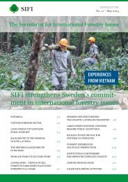 sIFI strengthens sweden's commit- ment in international forestry issues